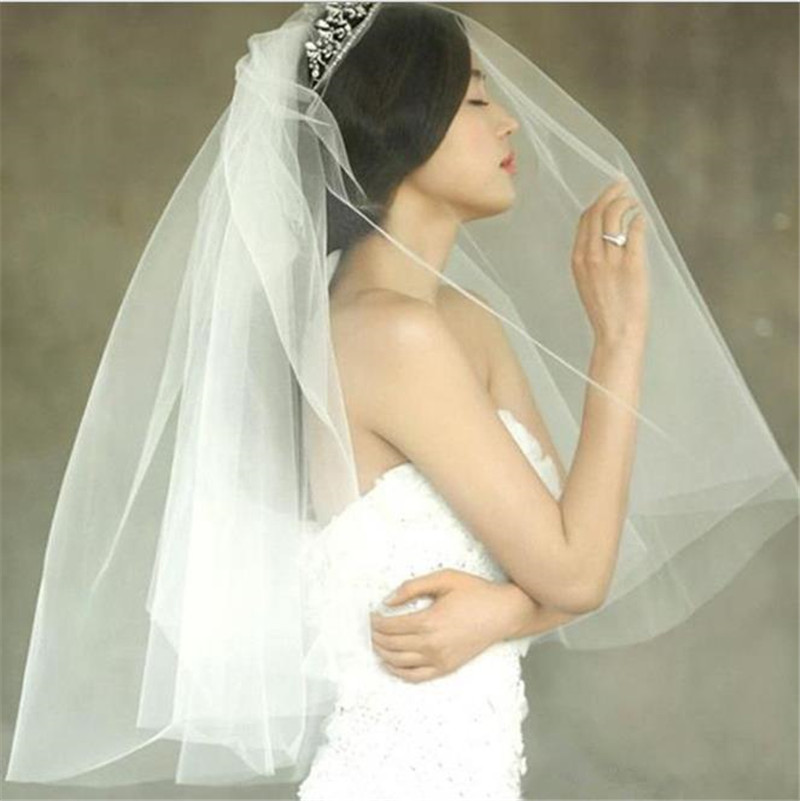 New Arrival Fashion Design Wedding Shower Decoration White Bridal Veil