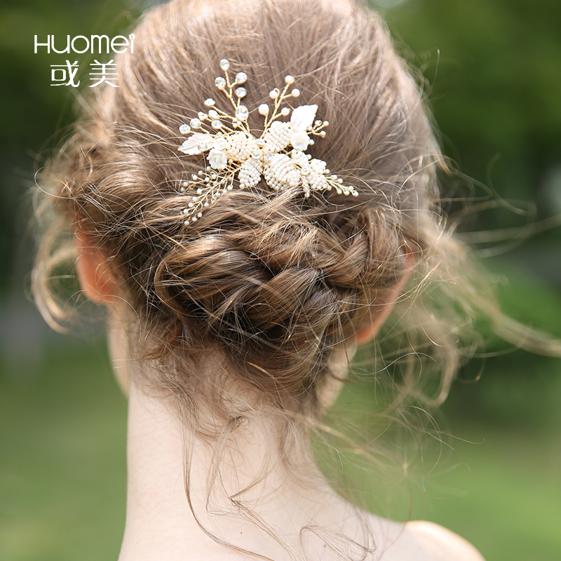 Luxury Wedding Pearl Headband Bridal Crystal Rhinestone Hair Accessories Jewelry Hair Combs For Women