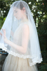 Fashion Headpiece Wedding Dress Accessories Long Lace Wedding Veil for Bride