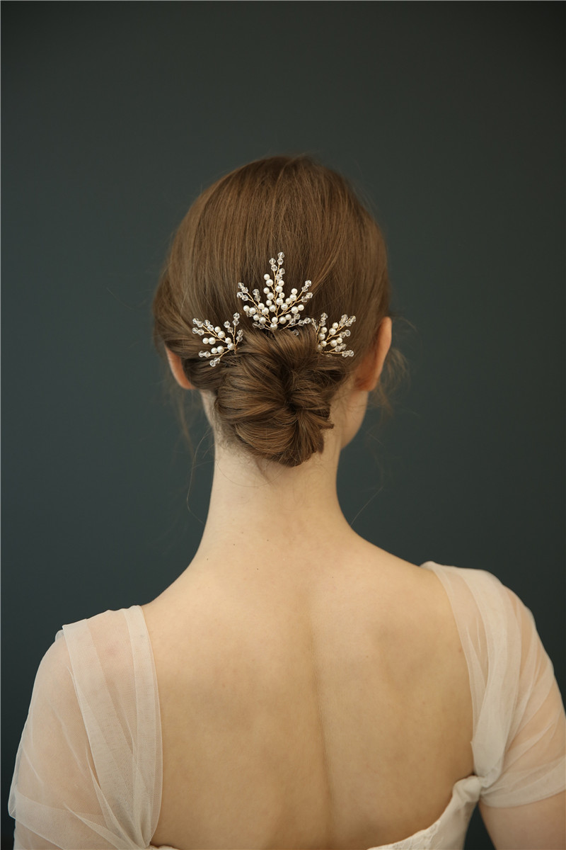 Crystal Bridal Accessories Hair Jewelry Fancy Beads Wedding Hair Pins