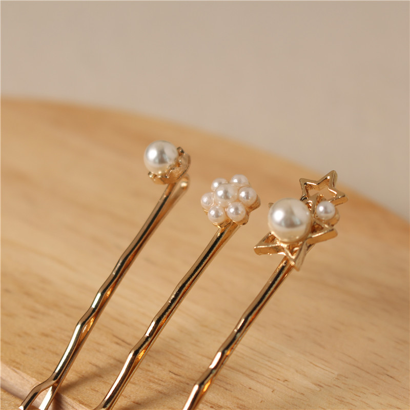 Handmade Wedding Fashion Metal Hair Accessories Pearl Hair Pins Sets