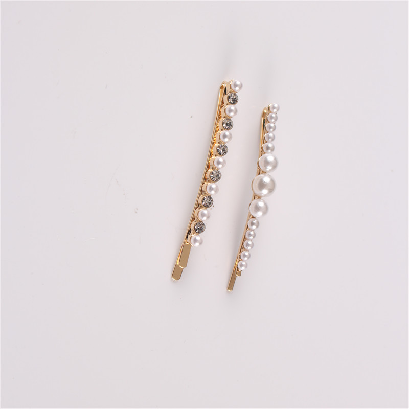 Women Wedding Bridal Handmade Simple Fashion Pearl Hair Clip