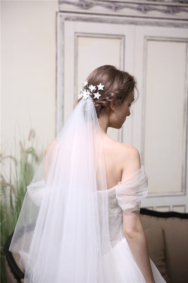 Cheap Wedding accessories Handmade Flower Leaf Women Crystal Hair Combs