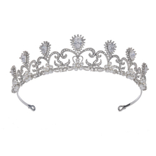 Top Quality Handmade Rhodium Plated Quality Control Bridal Tiara Crown
