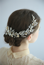 Luxury Crystals Flower Wedding Hair Accessories Bridal Headpiece Hair Clips