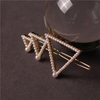 Wedding Accessory Fashion Lovely Handmade Triangle Gold Clip Pearl Hairclip