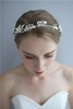 Hairband Silver Leaves Crystals Wedding Fancy Princess Headpiece