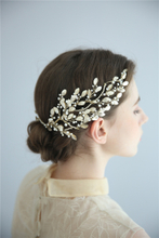 Luxury Handmade Gold Leaves Crystal Bridal Accessories Headpiece