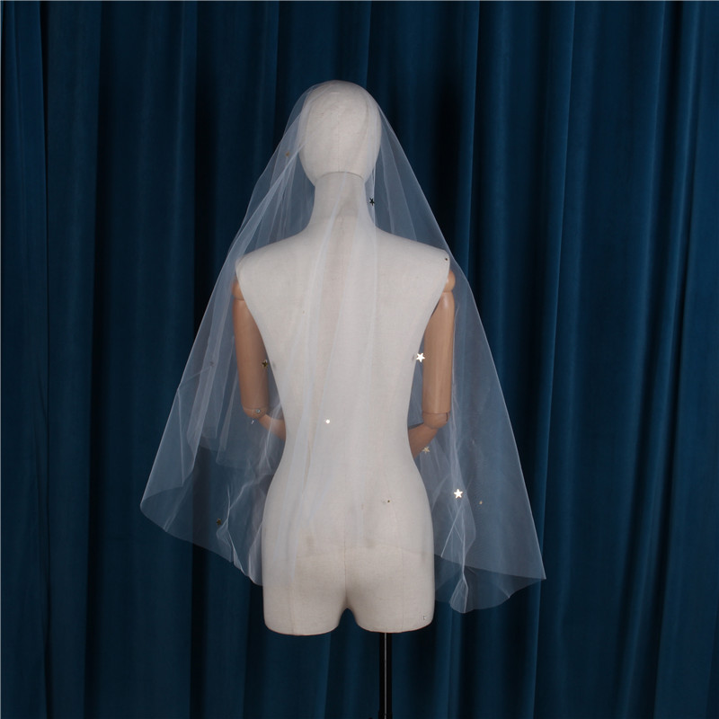 Wedding Accessory One Layer 1.4M More Size Bridal Veils Wedding Veils