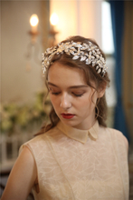 Decoration Creative Bridal Beauty Golden Rhinestone Tiaras Bridal Crown