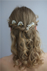Stylish Exquisite Wedding Hair Clips Gold Wedding Bridal Jewelry Set