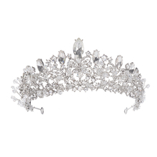Luxury Headdress Silver Wedding Hair Accessories Bride Crowns Bridal Tiara