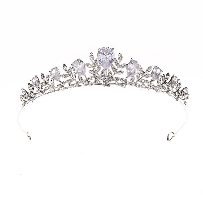 New Design Women Wedding Bride Birthday Big Crystal Rhinestone Crown