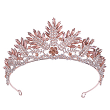 Luxury Bride Women Rhinestone Crystal Wedding Bridal Tiaras Crowns
