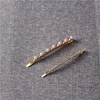 Factory Supply Trendy Rhinestone Pearl Hairpin Wedding Hair Clips 2 Piece Set