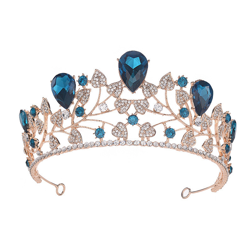 Elegant Multicolor Rhinestone Crowns Wedding Hair Accessories Women