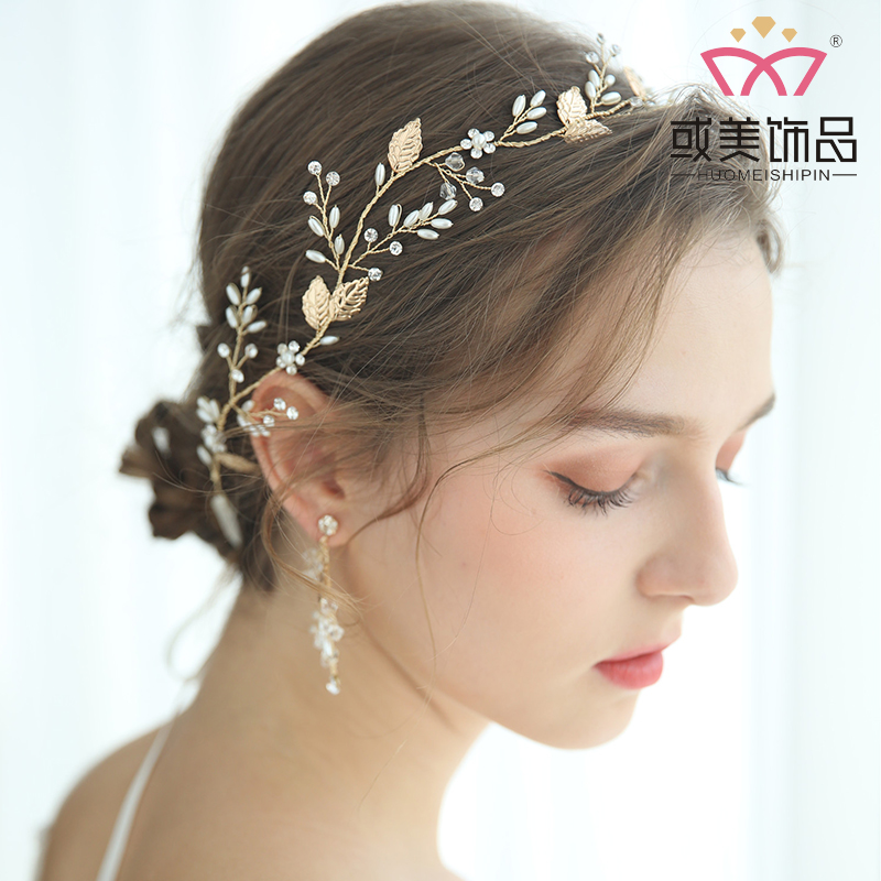 Bridal Crystal Wholesale Handmade Women Hairbands Flower Headpiece