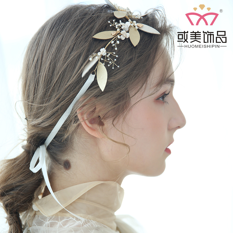 Wedding Fancy Hair Accessories Gold Leaves Bridal Headbands