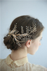 Flower Bead Bridal Headpiece Hair Jewelry Wedding Accessories Fancy Hair Clips