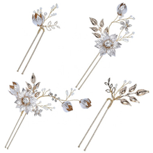 Headband Hair Accessories Wedding Rhinestone Hair Jewelry Bridal Hair Clip Set