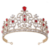 Fashion Jewelry Hair Accessory Wedding Luxury Multi Color Crystal Bridal Crown