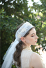 Pretty Bridal Accessaries Lace Appliqued Long Veils for Wedding Brides