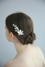 Decorative Fancy Wedding Women Fashion New Design Gold Flower Bridal Hair Comb
