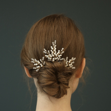 Fashion Handmade Crystal Bridal Accessories Hair Jewelry Fancy Beads Wedding Hair Pins Set