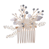 New Product Bridal Jewelry Set Gold Leaf Hair Accessories Women Hair Comb Bridal