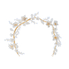 Flower Hairbands Earring Brides Ceramics Head Wear Pearl Hair Accessories Women Tiaras