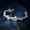 Elegant White Round Pearls Wedding Bridal Hair Band For Women