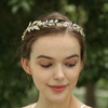 Fashion Gold Leaf Design Rhinestone Wedding Bridal Headband