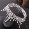 Wholesale Bridal Headdress Pearl Crystal Tower Triangle Shape Princess Crown Tiaras For Women