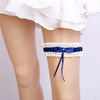Party Decorated Sexy Blue Leg Garter Ribbon Bridal Lace Garter