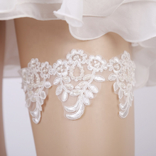 Modern Wedding Accessories Sexy Garter Ring White Lace Pearls Flower Belt Garters