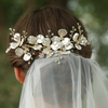 Vintage Gold Iron Leaves Flowers Wedding Bridal Hair Accessories Veil Hair Combs