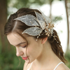 Sweet Bridal Lace Leaves Hair Jewelry Hair Clips Wedding Rhinestones Hair Accessories