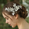 YouYou Bridal Headpieces Manufacturers Custom Silver Rhinestone Flower Hair Clip