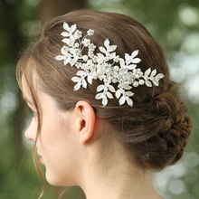 Leaves Shape Hairgrips Pearl Crystal Leaves Flower Hair Accessories Hair Clips