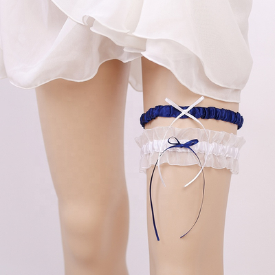 Soft Sexy Girl Lace Floral Bowknot Wedding Party Bridal Lingerie Leg Garter Belts
