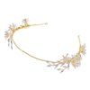 Handmade Gold Rhinestone Leaves Earring Jewelry Wedding Crystal Floral Queen Tiaras Crowns