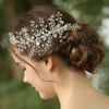 Custom Silver Snowflake Jewelry Hair Accessories Hair Clips